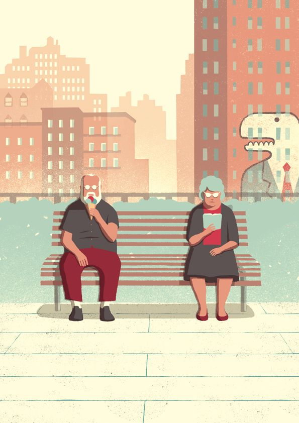 A silent one-day trip of an elderly couple visiting a big city. Maybe New York, or maybe not.