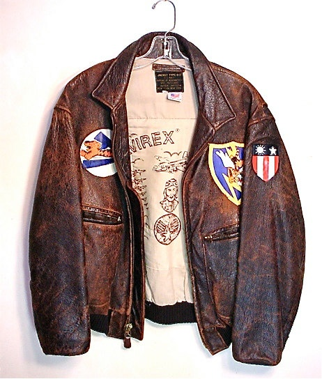 Vintage AVIREX Leather Bomber Jacket