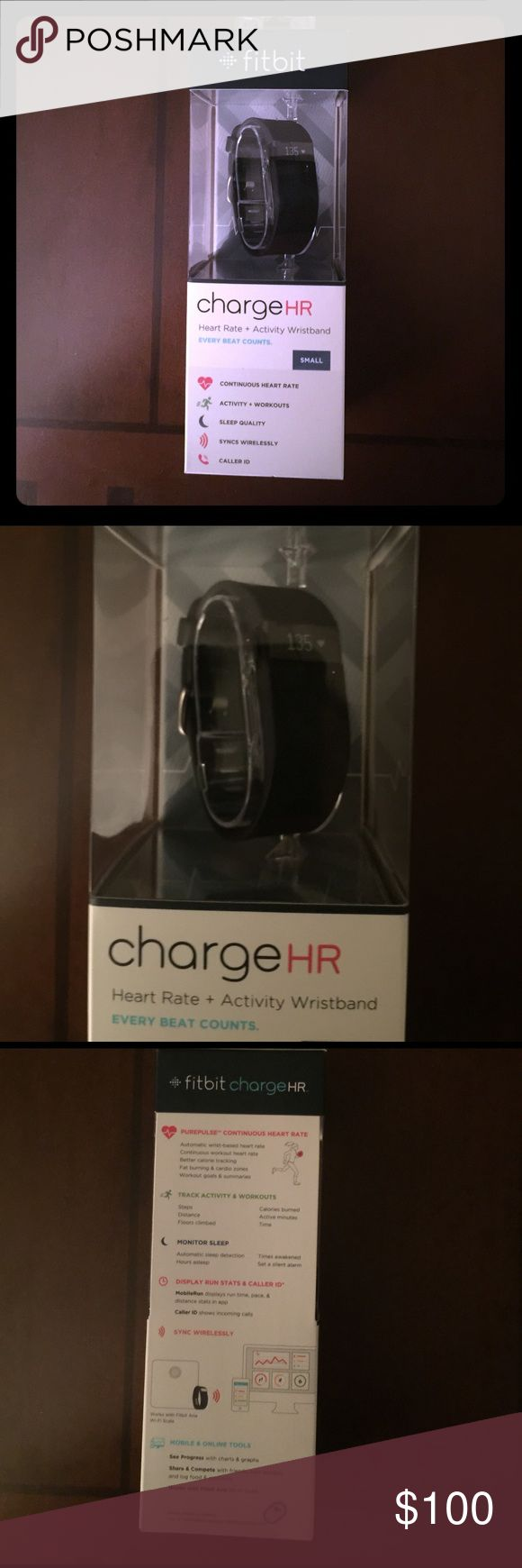 New Black Fitbit Charge HR size Small Brand New Black Fitbit Charge HR size Small. Never opened! Fitbit Other