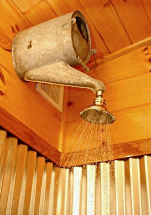 Cool shower head ,,,,,,, would be cute for an outdoor shower