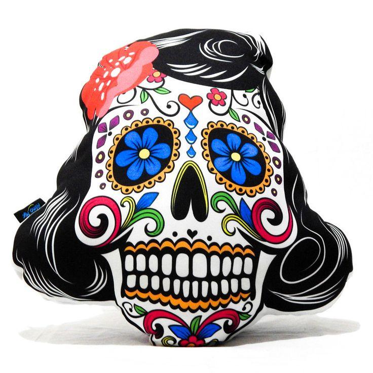 Comprar Almofadas caveira mexicana mulher, estilo e decoração