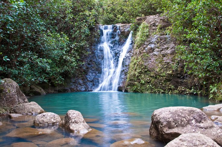 Laie Falls, Oahu, Hawaii.
