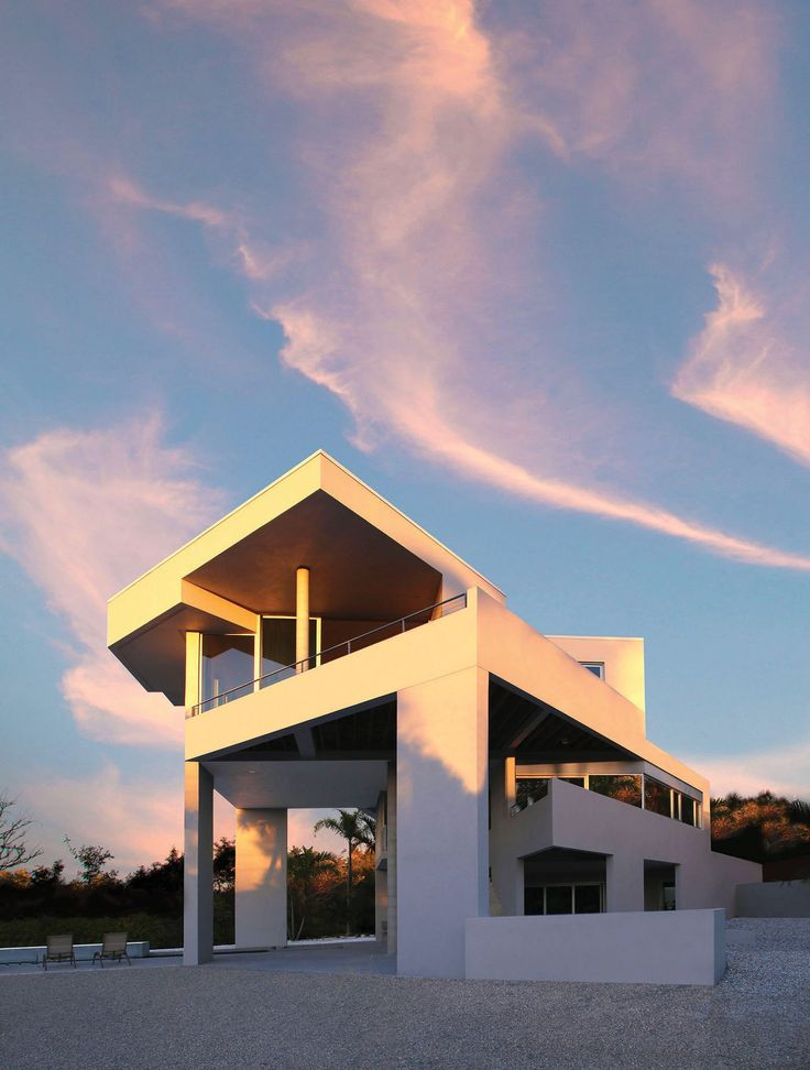 Mayan Influence: Architect Carl Abbott designed the Butterfield Lagoon House near Sarasota with various angles and planes to make the best use of the sun and air. SEAN HARRIS / COURTESY PHOTO