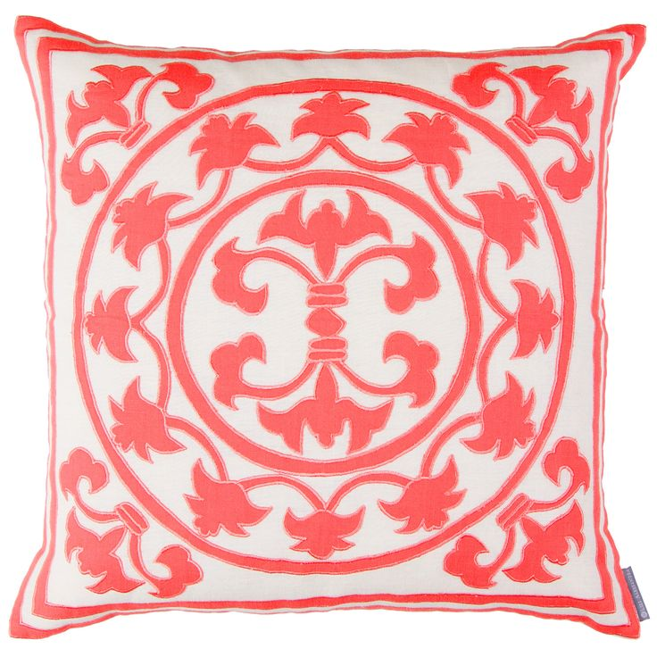 lili alessandra lili linen coral decorative pillow