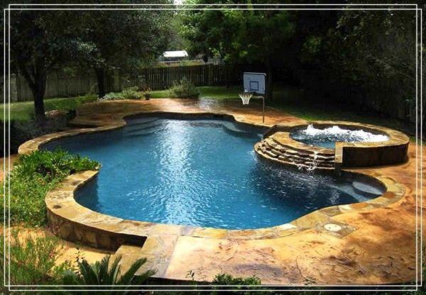 15 Fabelhafter Pool Mit Spa Designs In 2020 Spa Design Whirlpool Hinterhof Pool
