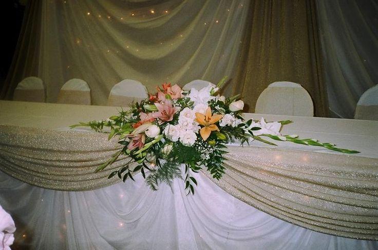 wedding head table ideasTable Decorations, Head Table'S Decor, Head Tables Decor, Embrace Bridal, Design Ideas, Decor Wedding Head Tables, Bridal Tables Decor, Colors Pretty, Tables Ideas