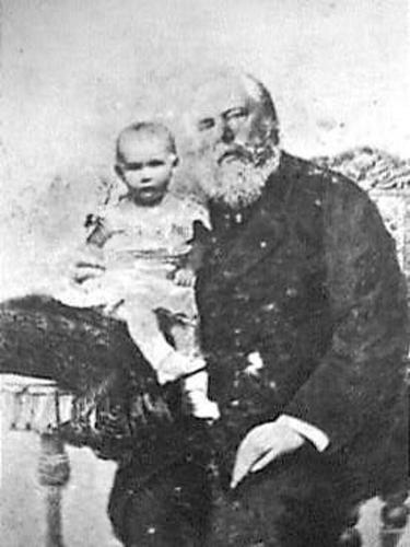 Koning Willem III en zijn dochtertje, de latere Koningin Wilhelmina
