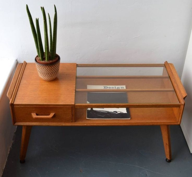 Furniture , Stylish Mid Century Coffee Table : Mid Century Coffee Table With Glass Top And Drawer