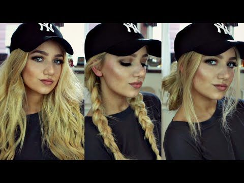 INSTAGRAM 'BADDIE' HAIR TUTORIAL // 3 BASEBALL CAP HAIRSTYLES - YouTube
