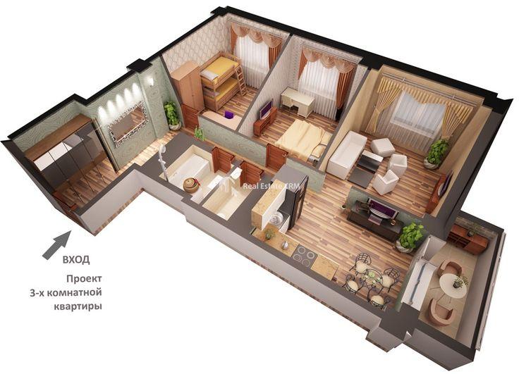 Продается отличная 3-х комнатная квартира в новом доме в Красногорске - Агенство Недвижимости Эстейткомфорт Недвижимость в Крыму, Москве и области.