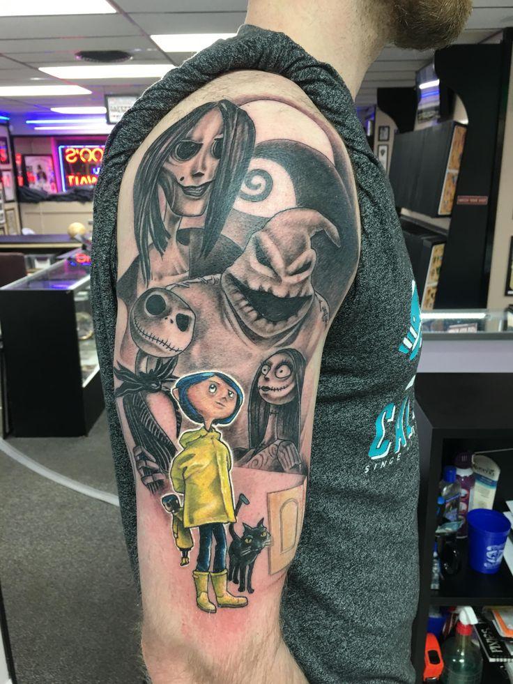 Nightmare Before Christmas/Coraline tattoo
