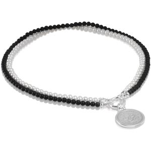 HC-SPR & HC-2PEIN Australian Shilling Coin Sterling Silver Pendant & 2 Strand 5mm Matt Black Onyx & Freshwater Pearl Ebony & Ivory Necklace by Cotton & Co.jpg