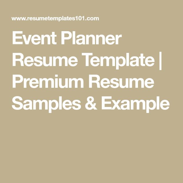 The 25+ best Event planner salary ideas on Pinterest Wedding - event planning resume