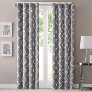 Kendall Color Block Grommet Curtain Panel | Overstock.com Shopping - The Best Deals on Curtains