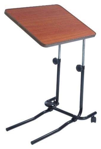 Over Bed Chair Table Adjustable Tilt Up Adjustment Movable Divan Style Wheels