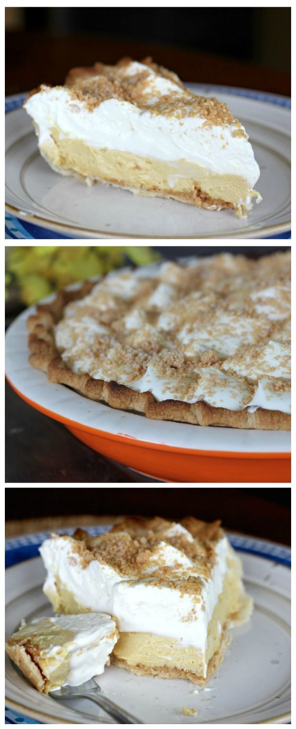 Amish Peanut Butter Cream Pie - Amish' is referred to as being plain, but there is nothing 'plain' about this creamy, dreamy Amish Peanut Butter Cream Pie! Perfectly delectable! via @https://www.pinterest.com/BaknChocolaTess/