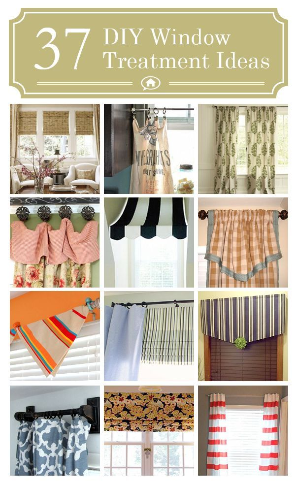 37 diy window treatments lots of easy no sew ideas and for Long window curtain ideas