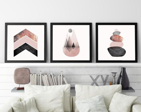 Set of 3 Prints, Print Set, Scandinavian Art, Scandinavian Print, Minimalist, Poster, Mountains, Blush, Pink, affiche scandinave, download :::: Please note that this is a digital download ONLY, no physical product will be shipped :::: :::: How it works :::: 1. Purchase this listing 2. Once you are on the download page, you will receive an email with the download link 3. Download & save/unzip the file 4. Print your artwork instantly at home, or better still, take the file to your lo...