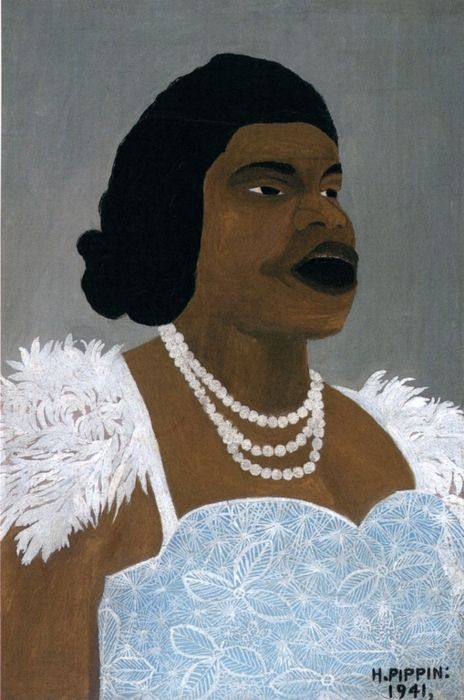 Horace Pippin, Portrait of Marian Anderson, 1941. Read more about the art, life, and legacy of Horace Pippin at Gwarlingo: http://www.gwarlingo.com/2013/horace-pippin/