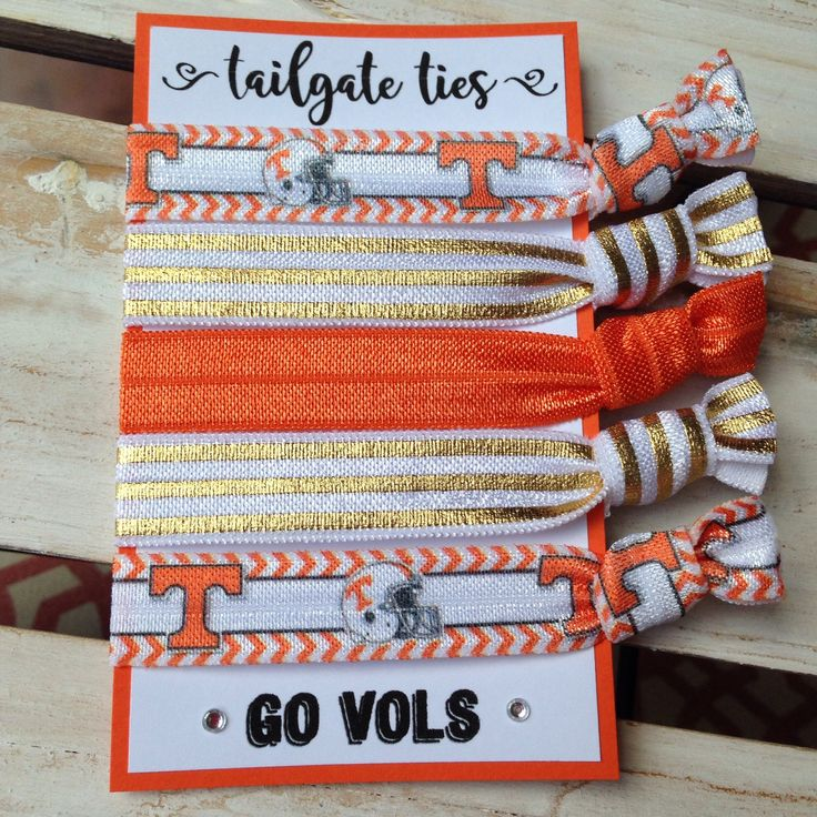 University of Tennessee Game Day Hair Ties