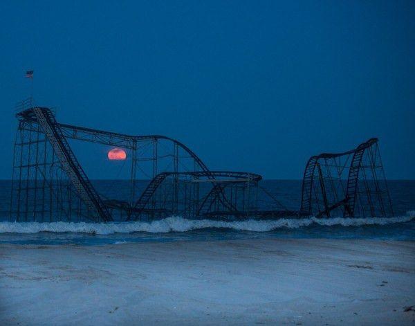 Jet Star Roller Coaster Full Moon Seaside Heights NJ