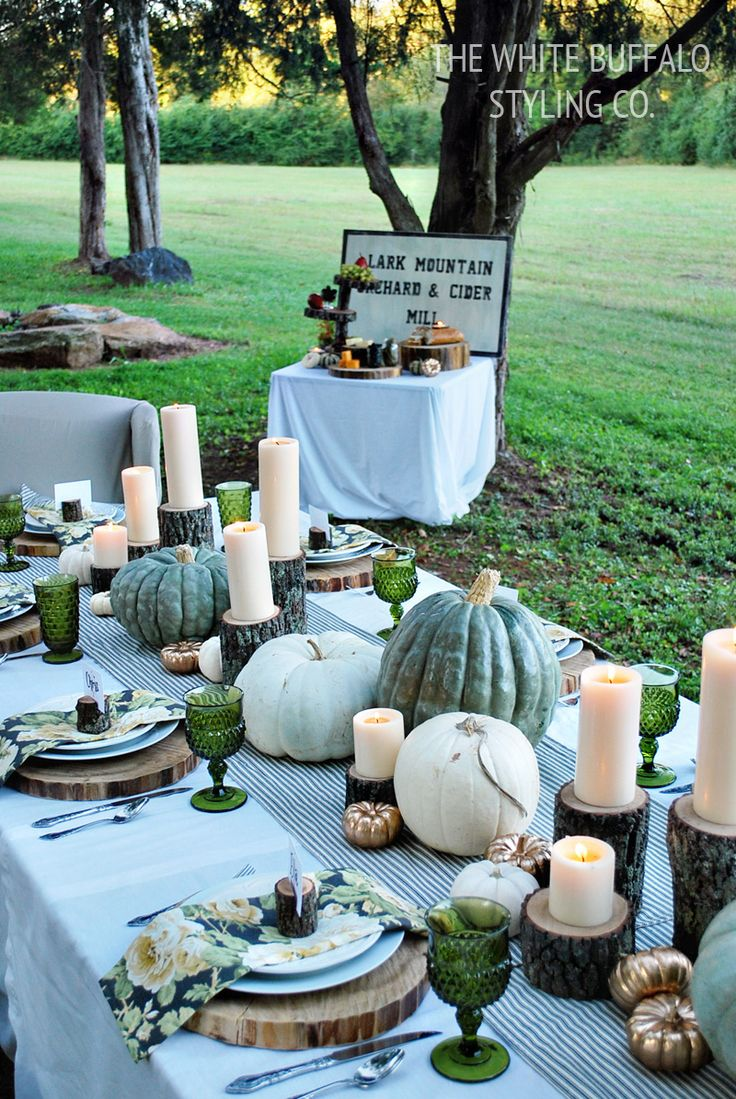Halloween tablescapes - Fresh Fall Tablescape Halloween