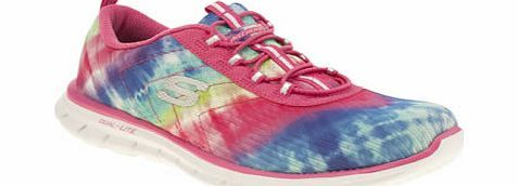 Skechers Multi Glider Psychedelic Trainers Along with more cushioning, get more colour into your footwear with the fabulously comfortable Glider Psychedelic from Skechers. This fun and vibrant style is complete with a multi-coloured tie-dye pr http://www.comparestoreprices.co.uk/womens-shoes/skechers-multi-glider-psychedelic-trainers.asp