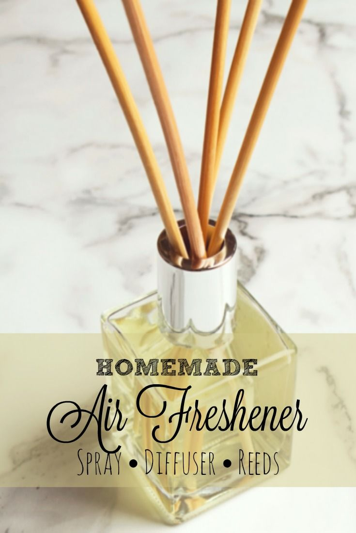 DIY Home Air Freshener: Fragrance without toxic chemicals using spray, diffusers, or reeds.