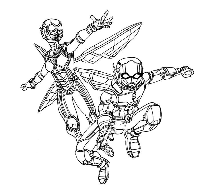 Ant Man And The Wasp Coloring Pages In 2020 Coloring Pages Cartoon Coloring Pages Ant Man