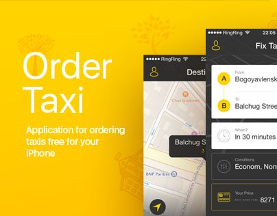 Quickly order a taxi with few taps, track your driver in real time and pay by app. And all this for FREE :)