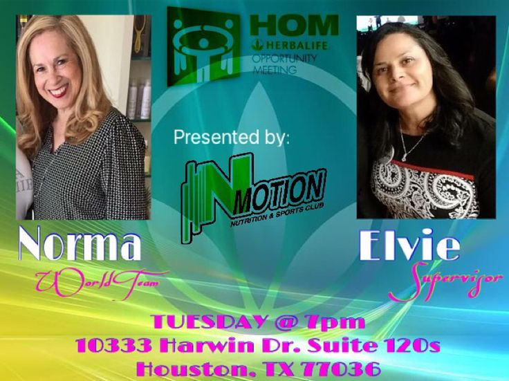 Herbalife Opportunity Meeting  Slide by our office to learn how you can supplement your income or even have a career level income!! Excited to hear how these two amazing ladies are working their Herbalife business part-time and have incredible product results!! Join the team and the movement to Earn What You Are Worth while getting in the shape of your life!  Tuesday at 7pm 10333 Harwin Dr Suite 120S Houston, TX 77036  DM for info nmotionnutrition@gmail.com 713-320-2908 Zoom Call Available