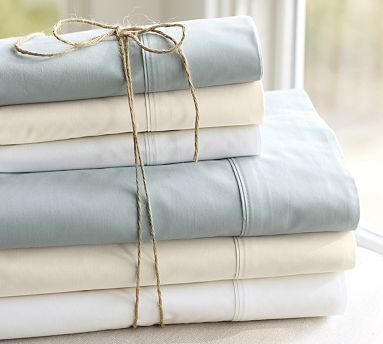 "PB Organic 400-Thread-Count Sheet Set #potterybarn  want! :) ... on the ""save up"" list :)"