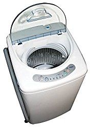 Haier HLP21N Pulsator 1-Cubic-Foot Portable Washer  This is a Portable washer. It operates quietly, has cycle-status lights and end-of-cycle signal.