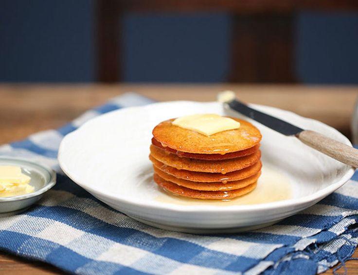 Honeyed Orange & Polenta Pancakes Recipe | Abel & Cole