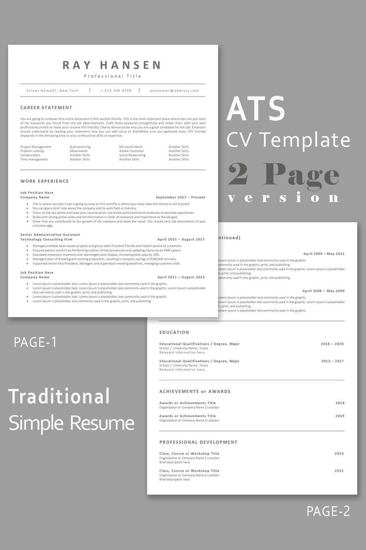 ATS Compatible Resume Template, Applicant tracking system