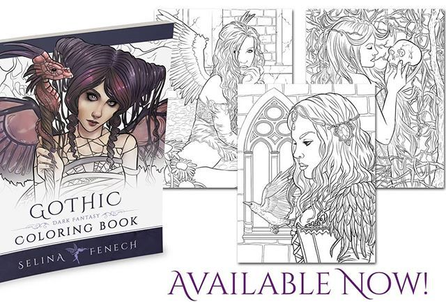 Gothic Is My Bestselling Colouring Book! It Is Still One Of My Personal  Favourites Too :) Coloring Books, Colouring Pages, Color