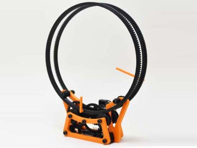 3ders.org - Never be late again! 3D print yourself a cool and simple gear clock | 3D Printer News & 3D Printing News