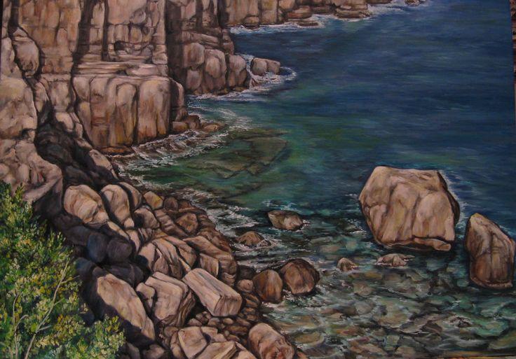 """""""Petra Longa (Sardegna)"""" olio su tela 50 x 70"""