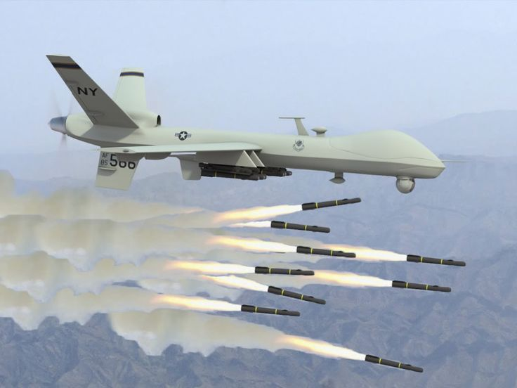 Somebody's day is about to turn...BAD with the ultimate terrorist ( 'pursue with extreme prejudice ' ) killing drone doing what drones do so well ☑️