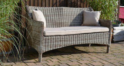 Gartenmobel Edelstahl Oder Aluminium : Gartenmöbel Set Tisch, Bank und 4 Sessel Rattan Polyrattan Geflecht