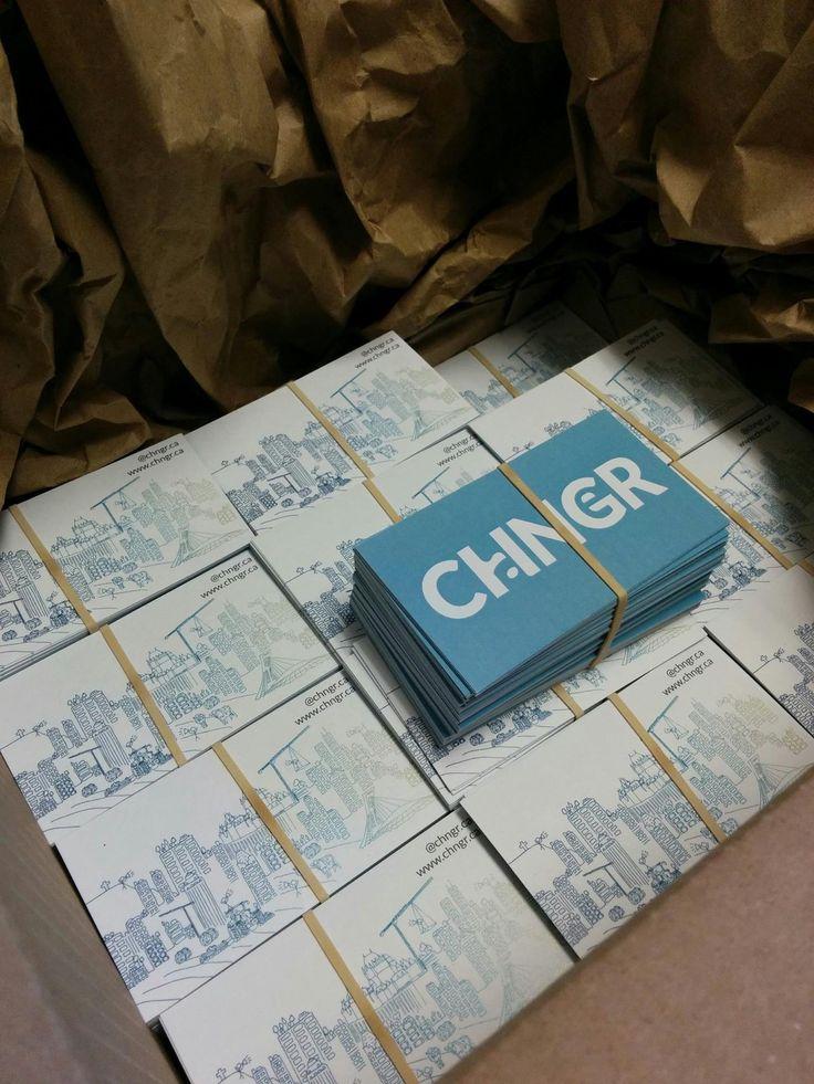 CHNGR, cartes d'affaires | impression, finition