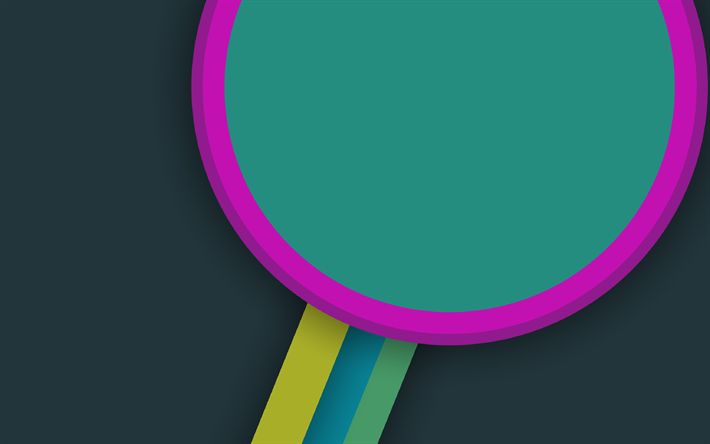 Download wallpapers circle, lines, art, strips, design material, abstract material