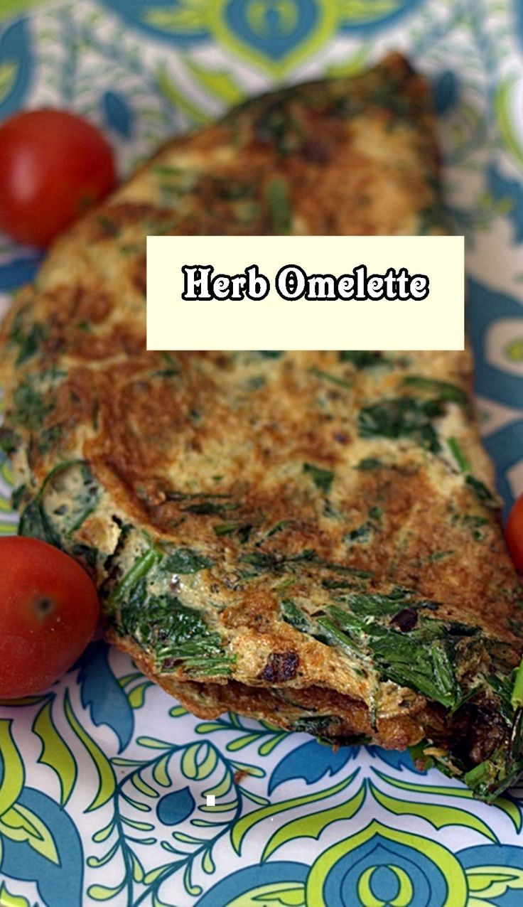 Herb omelette,with chives, green chili and parsley #omelette #herbs