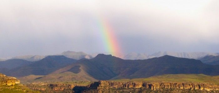 Rainbow over the Maluti Mountains