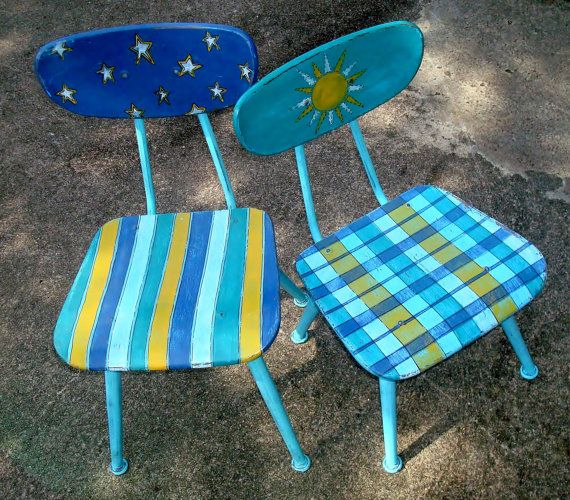 Childs ChairHand Painted Recycled SunbrightSale by ThePaintedPine, $30.00