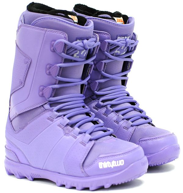 these thirtytwo women's lavender snowboard boots - great fit, easy break-in with excellent style.