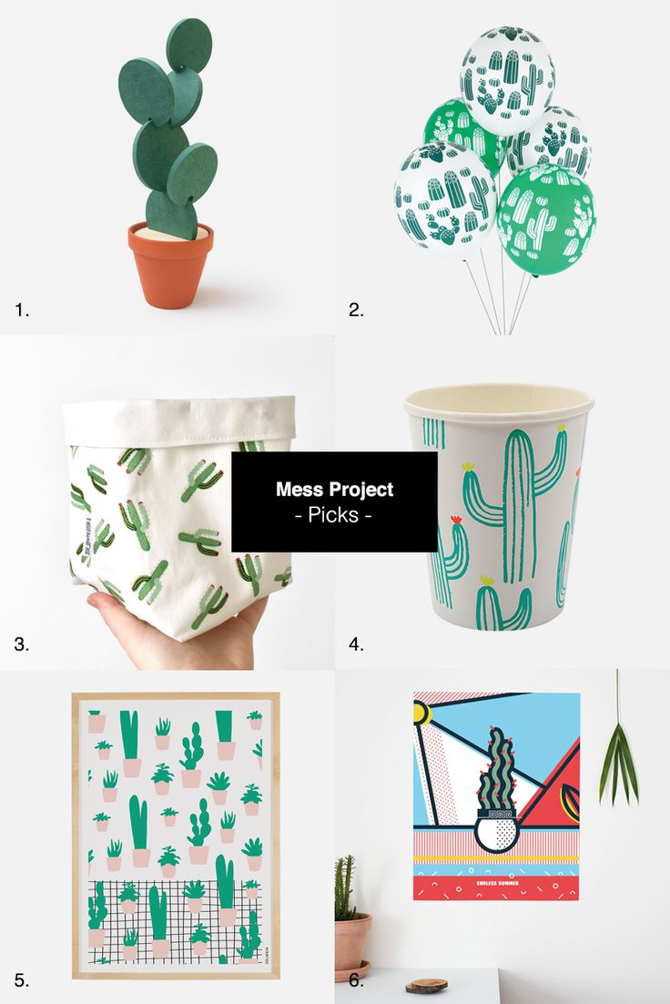 Cactusmania… Cactus coasters \\\ 2. Five cactus balloons \\\ 3. Large fabric basket \\\ 4. Print party cup \\\ 5. SUCCULENTS – A3 Print \\\ 6. Pop art cactus poster Don't forget d… #cactus #etsy
