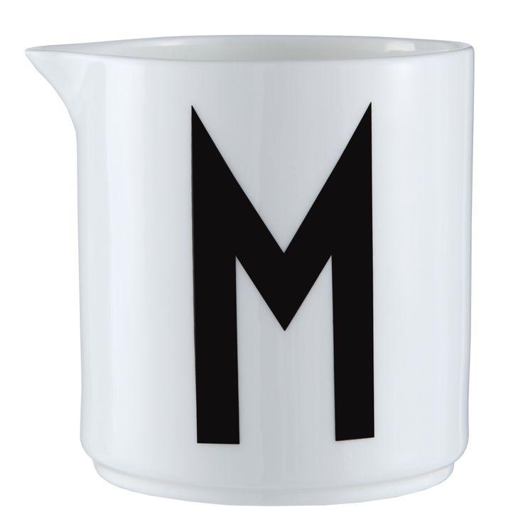 Design letters Milk jug