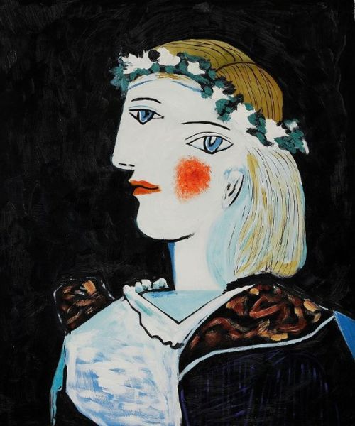 Pablo Picasso:Portrait of Marie-Thérèse Walter with Garland,1937.