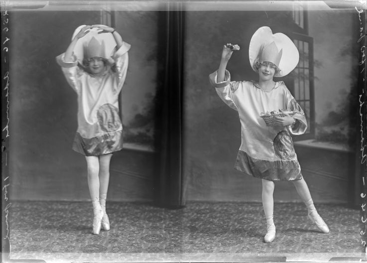An adorable sweet pea costume for your Monday. Welcome to June!Dancer in costume, 1926 :: Milwaukee Polonia Digital Collection